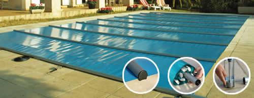 Aqua pura swimming pool covers in algarve winter safety covers for Swimming pool winter cover anchors